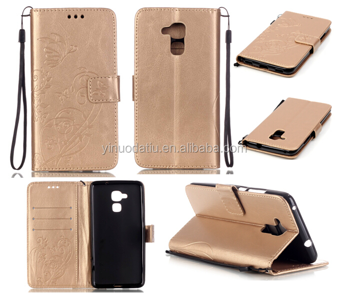 Simple universal bag style for huawei honor 5c flip leather case