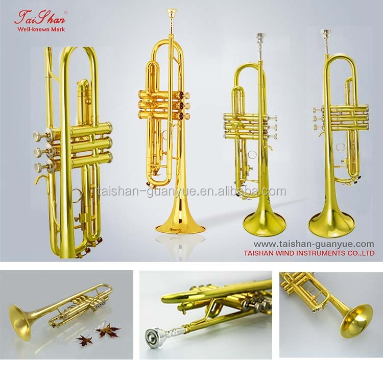 Professional Replica musical instrument Bb key Trumpet w/mouthpiece