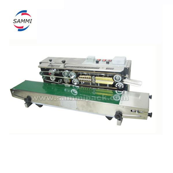 new arrive FRD-1000 Soild Ink Plastic Bag Continuous Heat Sealer / bag mouth sealing machine with coder