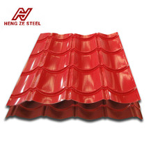 red zinc aluminium corrugated sheet for roofing