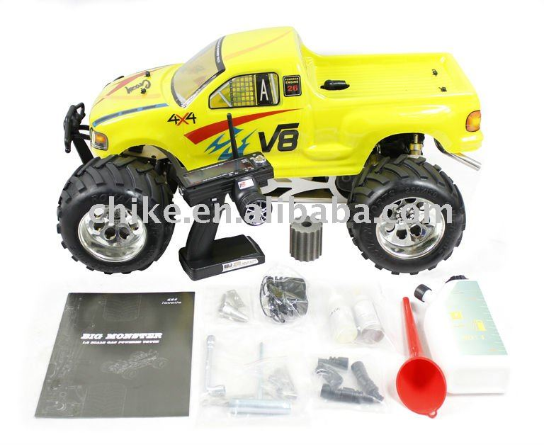 26cc/29cc/30.5cc 4WD Big Monster RC TRUCK with 2.4G transmitter RTR