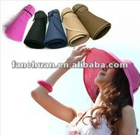 fashion foldable beach straw hat