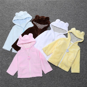 Baby Infant Girls Coral Fleece Winter Warm Coat Jacket Thick Warm Clothes Baby Boys Girl Cute Hooded Long Sleeve Coats