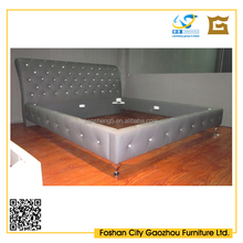 Latest design Queen/King PU leather bed frame on sale