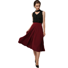 Black fashion tank top Jujube long skirt formal shirt suits for women