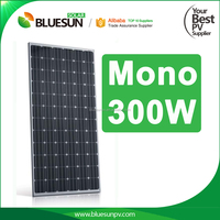 Bluesun high quality 280W monocrystalline embedded solar panel