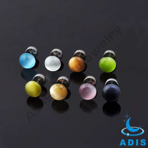 16g acrylic fake donkey ear tunnels earring plugs piercing