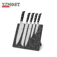 hot sales 5pcs kitchen knife set with magnetic knife block