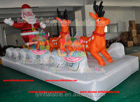 Giant 20ft long christmas inflatable santa on sleigh with reindeer for sale