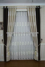 China silk effect curtains
