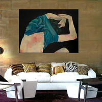 Nordic Posters And Prints Nude Girl Portrait Wall Art Canvas Painting Pictures For Living Room Scandinavian Home Decor