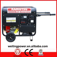 WT10000E Rated power Air cooled Single Phase Three Phase 100% Copper wire Portable Electric 8500w gasoline generator set