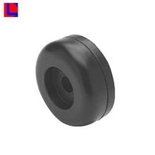 Custom made abrasion resistant round black rubber feet