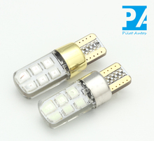 Autos Tube Bulb Light Lamp Car Silicone LED 2835 12SMD T10 194 W5W Canbus