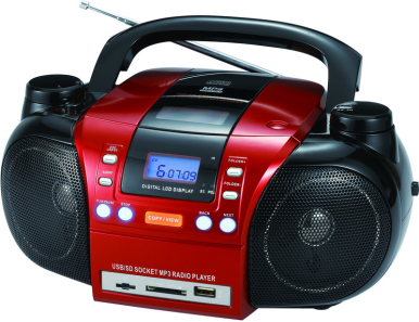 Best buy am/fm radio boombox portable multi play mp3/cd/dvd player