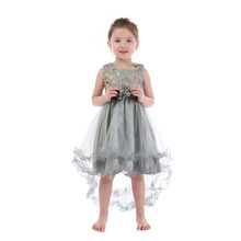 2018 princess frock tulle flower girl dress pattern girls puffy dresses for kids