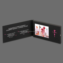 "Newest custom design 2.4"",2.8"", 4.3"" , 5"", 7"", 10"" electronic video brochures,lcd video mailer,video greeting card"