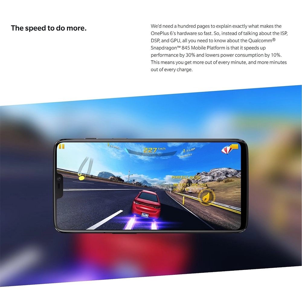 Original Oneplus 6 6/8GB RAM 64/128/256GB ROM 6.28'' AMOLED Screen Snapdragon 845 OxygenOS Dual Rear Camera 4G LTE Oneplus6