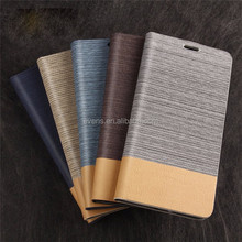 Card Holder Slot Mobile Canvas Flip Leather Book Folio Phone Case for motorola moto x
