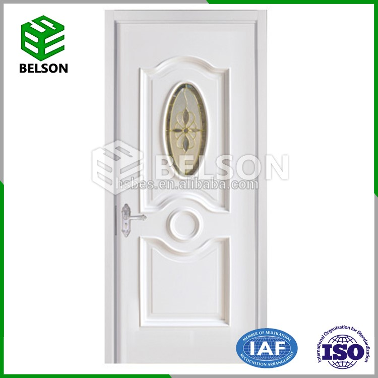 Interior Design Firm And Durable PVC Profile Wood Door