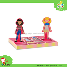 2016 New Dress Up Games for Girls, Magnetic Make Up Dolls