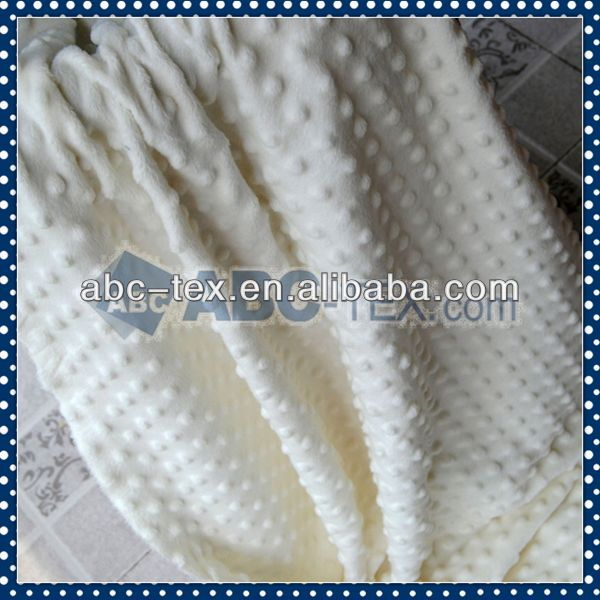 100 Polyester bubble velboa For Baby Garment MD011