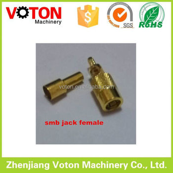 Brass rf connector SMB male and female straight for bt3002