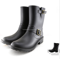 New Arrival,2016 Women's Low Heels Tall Rain Boots(Wellies),High Style Brand Rainboots,Lady's Fashion Water Shoes,Free Shipping!