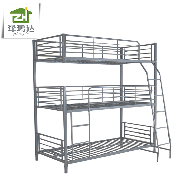 living room bedroom furniture bunk bed 3 layers triple metal bed frame