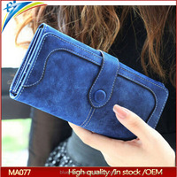 New Fashion Retro Long soft Card Holder Purse Matte Stitching Lady Wallet for iphone 6