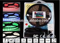 IP65 / IP67 Blue color SMD5050 60LED/meter waterproof music changing led strip light