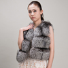 Myfur Winter Warm Real Short Fox Fur Vest Women Style