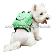 UW-PBP-017 2012 Little mouse face design,green canva pet dog self carry backpack bag for dogs