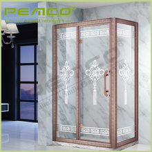 Direct Factory Price Simple Style sliding bath Tempered Glass portable shower screen