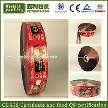 Plastic food packaging film printing film roll for cake/bread/biscuit/candy/coffee/sugar