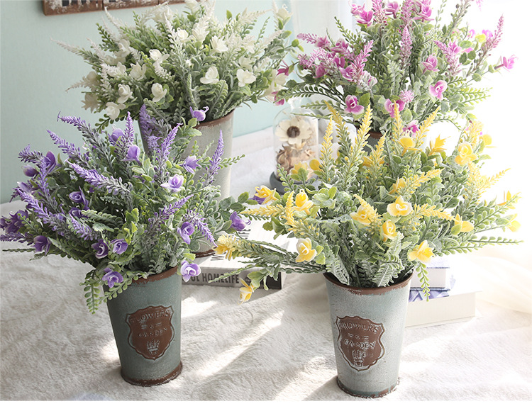 GF16129B millet sprays flower decoration types of artificial flowers high quality plastic flowers