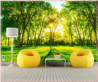 Forest wood landscape trees wallpaper nature photo wall mural for home decoration