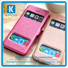 [kayoh] Double small smart window design phone case for iphone 6 pu leather case