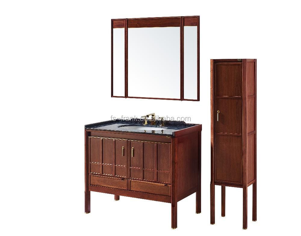 F 7221 43 pulgadas tocador de ba o de madera oscura for Bajo gabinete tocador bano de madera