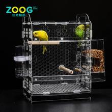 Custom rectangle clear Acrylic Bird cage pet container for sale