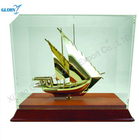 Popular Gold Metal Dubai Ship Model