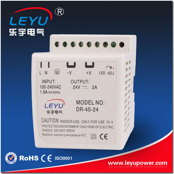 Din Rail Series High Quality CE RoHS Power Supply 45w 12v power charger
