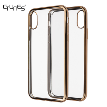 C&T Soft Transparent TPU Clear Hybrid Shock Absorbing Back Panel Bumper Case for Apple iPhone X