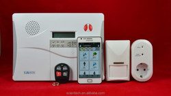 IP based GSM wireless alarm system with home automation