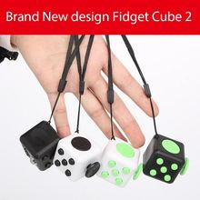 In stock Fidget Cube Toys for Girl Boys Magic Cubes Gift The First Batch of The Sale Best Christmas Gift Key Chain With Lanyard