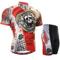 China cheap popular fashion cycling clothing suit skeleton design red cycling jersey