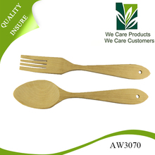 Custom High Qualiy Beech Wooden Spoon And Fork