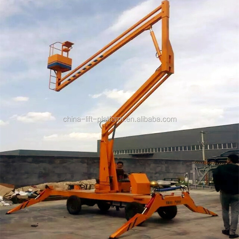 8-16m articulated towable boom lift/ aerial work platform