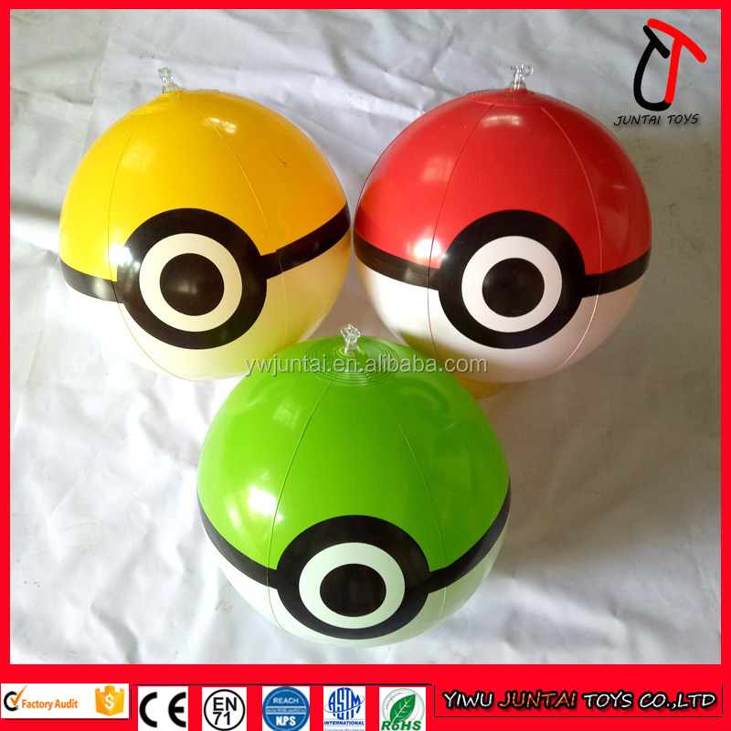 2016 hot sale 12inch & 18inch pvc inflatable pokemon beach ball