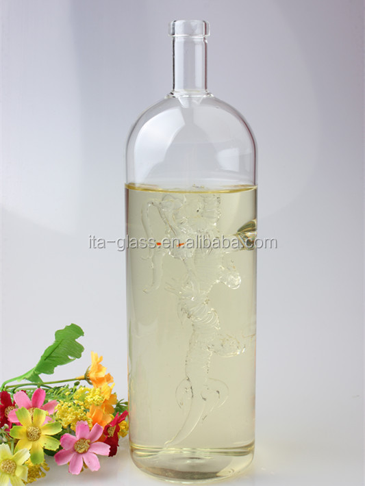 750ml new product customized design eco-friendly decorative fancy water vodka glass bottle for alcohol,liquor